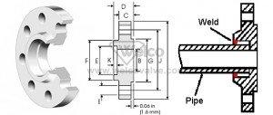 socket-weld-flange-drawing