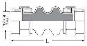 Khớp nối mềm cao su - kết nối ren