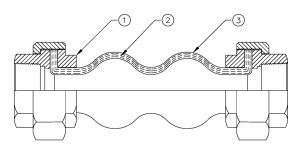 khớp nối mềm cao su union - bản vẽ