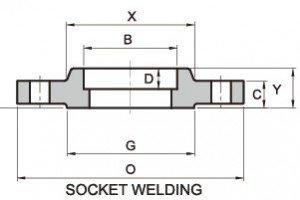 SOCKET WELD FLANGE ASTM A182 F304 B16.5 CLASS 150 RF