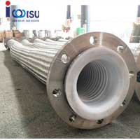 PTFE LINED FLANGE CONNECTION METAL BRAIDED HOSE